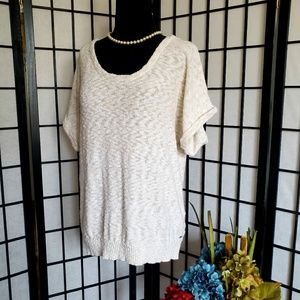 Tops - ☆TOMMY Hilfiger☆ Cream Short sleeve Light Sweater